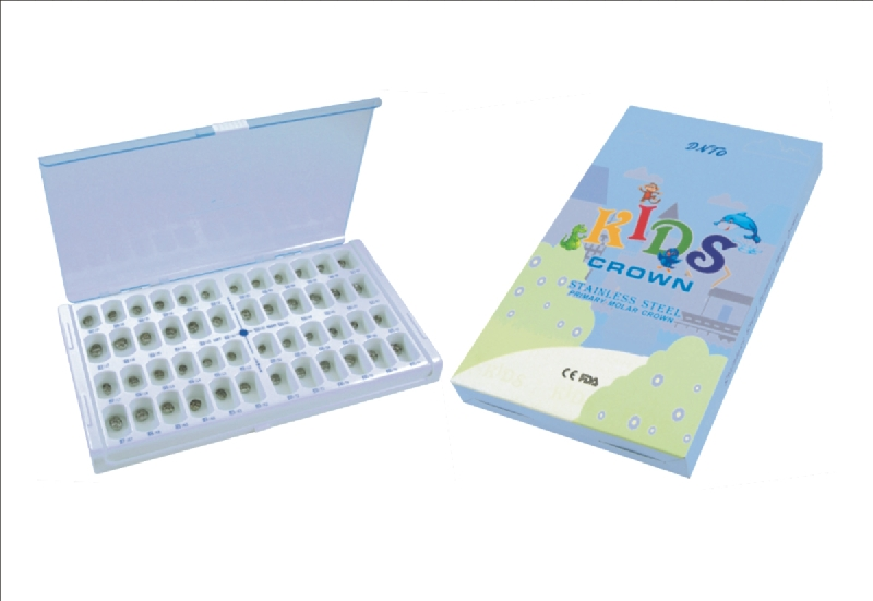 Stainless Steel Primary Molar Crown Box Package