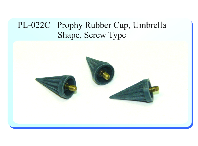 PL-022C Prophy Rubber Cup, Umbrella Shape, Screw Type