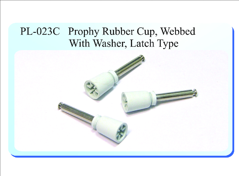PL-023C Prophy Rubber Cup, Webbed with Washer, Latch Type