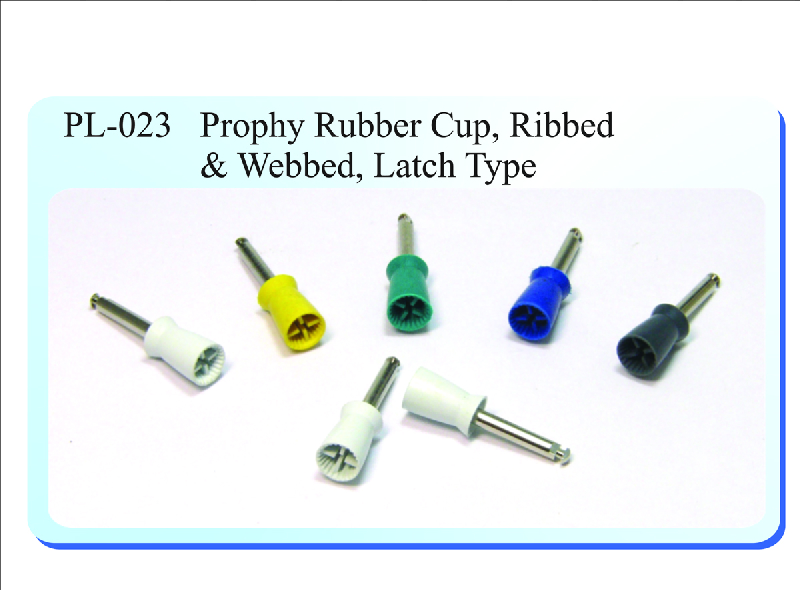 PL-023 Prophy Rubber Cup, Ribbed & Webbed, Latch Type