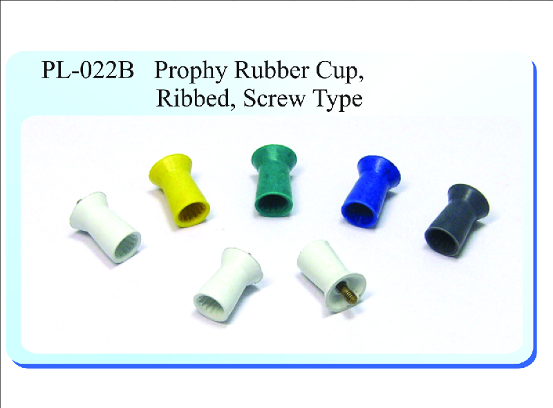 PL-022B Prophy Rubber Cup, Ribbed, Screw Type
