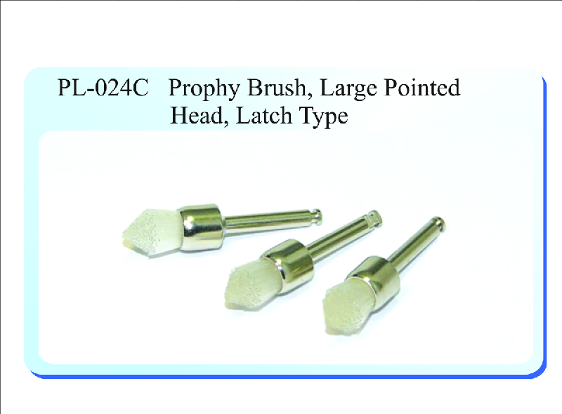 PL-024C Prophy Brush, Large Pointed Head, Latch